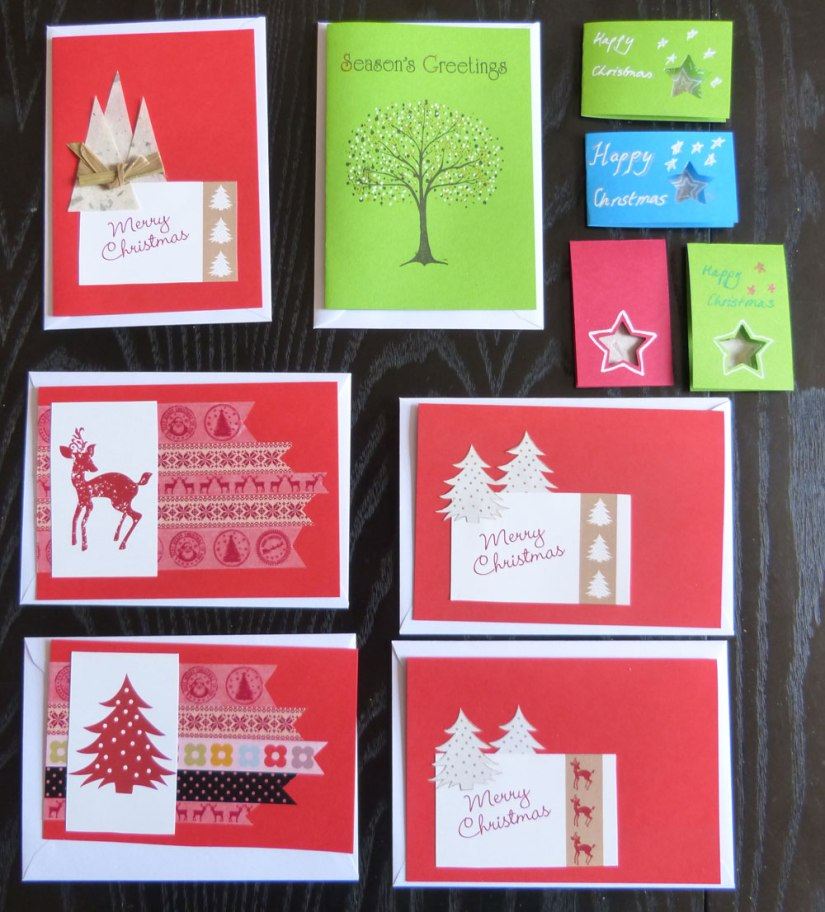 Starting on crafts: Christmas cards